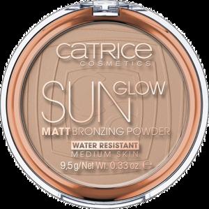 CATRICE Puder Brązujący Sun Glow Matt 030 Medium Bronze
